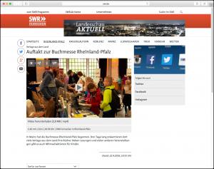Das SWR Fernsehen berichtet über die Buchmesse Rheinland-Pfalz mit dem Eifelbildverlag